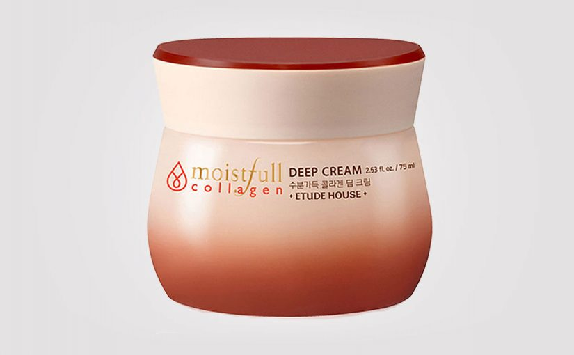 FIRST IMPRESSION: Etude House Moistfull Collagen Deep Cream. Korean skincare, K-beauty Europe