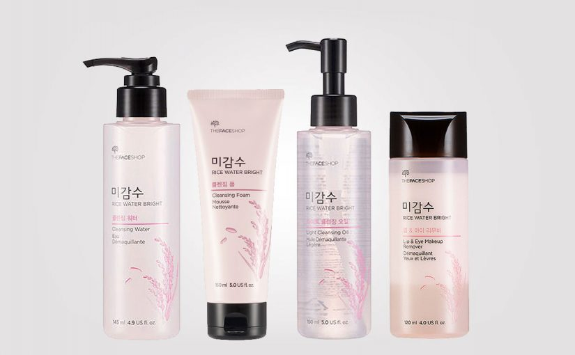 Korean product line: TheFaceShop Rice Water Bright cleansing products