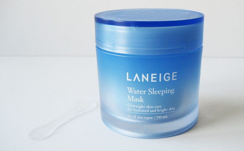 Video review on Korean skin care product Laneige Water Sleeping Mask