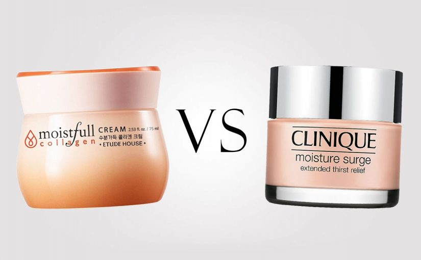 Etude House Moistfull Collagen Cream VS Clinique Moisture Surge