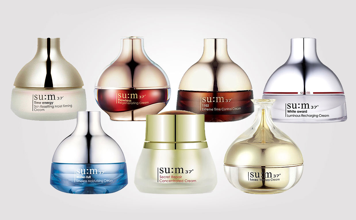 The different skin care lines by Korean brand SU:M37