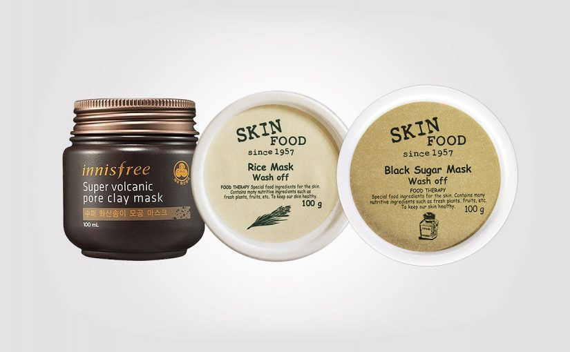 Top 3 best peels and exfoliating facial scrub masks from Korea. Korean skin care K-beauty Europe