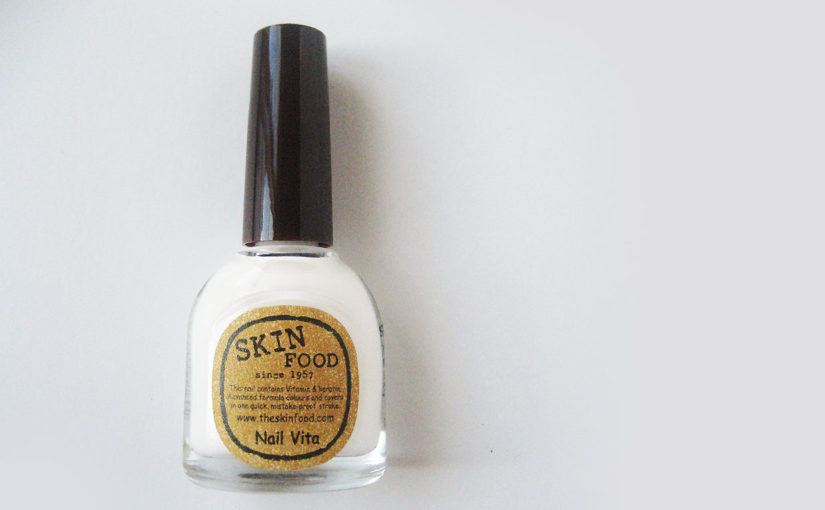 Skinfood Nail Vita nail polish in color Milky Milky BW704