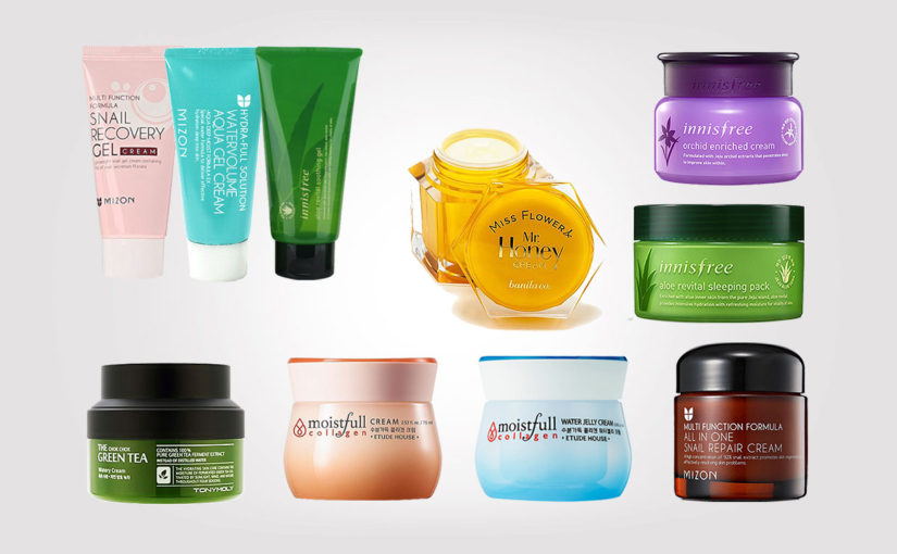 Top 10 Best & cheap face creams from Korea. Good quality creams: Etude House, Innisfree, Mizon, Banila Co, TonyMoly | Korean skin care K-beauty Europe