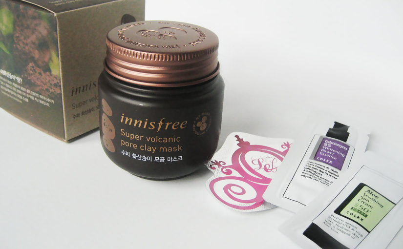 Innisfree Super Volcanic Pore Clay Mask, best korean face mask treating pores & acne