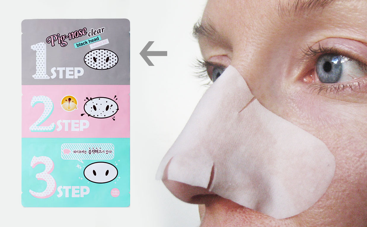 First impression review Holika Holika Pig Nose Clear Blackhead 3-Step Kit for blackheads, whiteheads & pores. Korean K-beauty skin care Europe