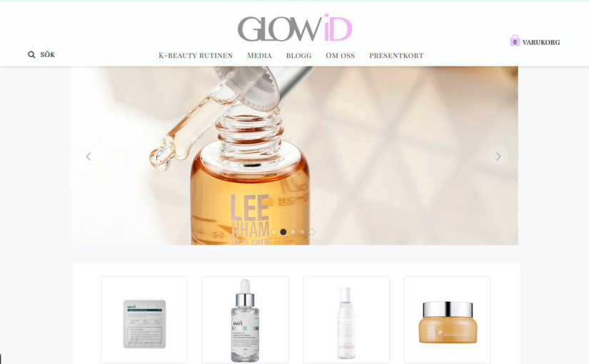 Glowid.se A new Swedish web shop selling Korean skin care shipping to Europe. K-beauty Europe
