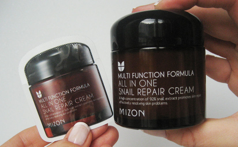 Mizon All In One Snail Repair Cream, the first Korean snail cream I discovered