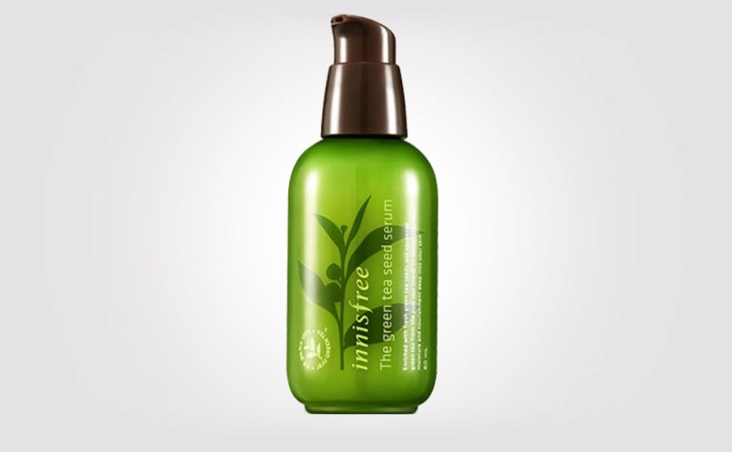 Review Innisfree The Green Tea Seed Serum from korea. Korean skin care oily combination acne skin. K-beauty Europe