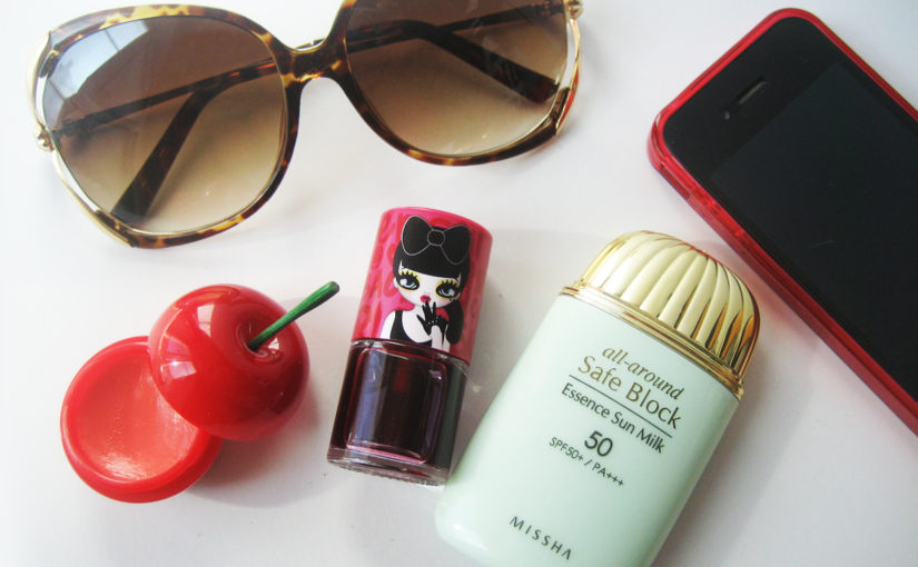 K-beauty favourites in my bag right now: Peripera, Missha & Tonymoly
