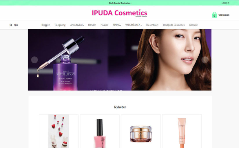Another Swedish webshop selling Korean skin care & makeup! IPUDA Cosmetics.