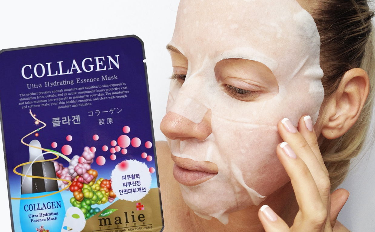 First impression Review Malie Collagen Ultra Hydrating Essence Mask sheetmask from Korea. Korean skin care K-beauty Europe