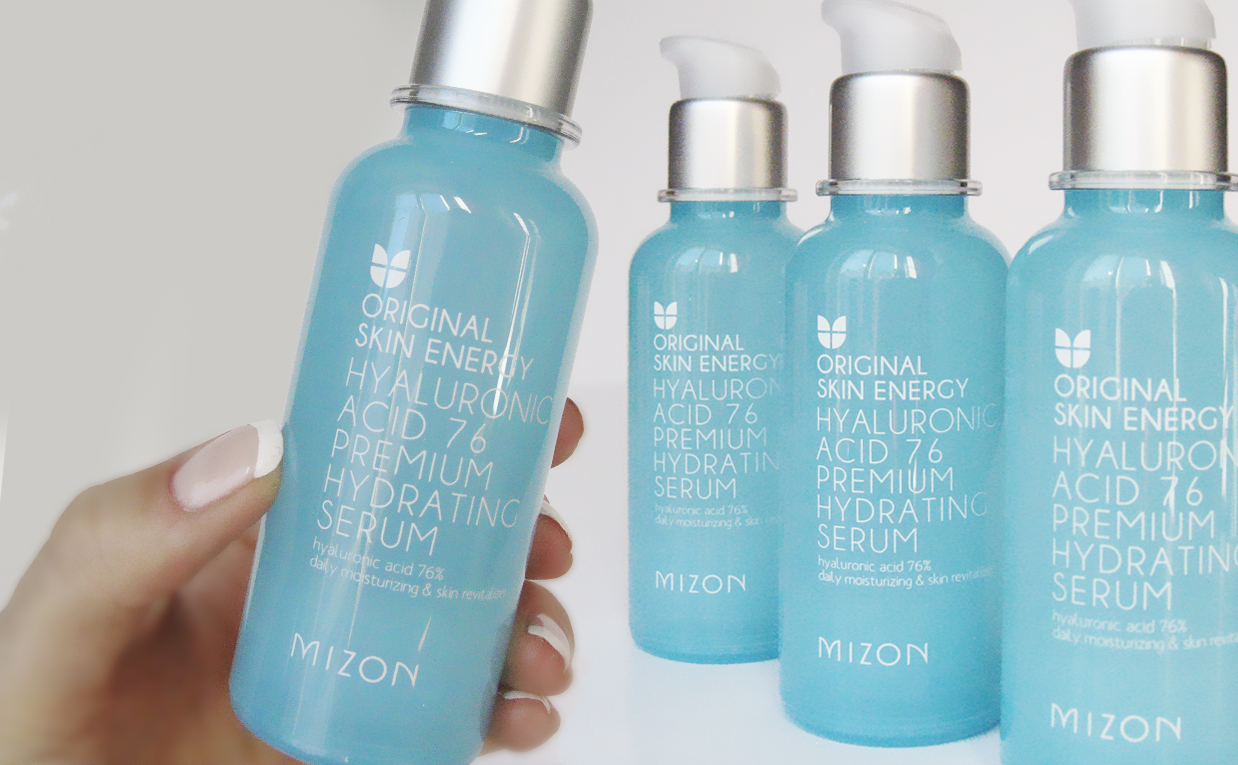 First impression review Mizon Original Skin Energy Hyaluronic Acid 76 Premium Hydrating Serum from Korea K-beauty Europe