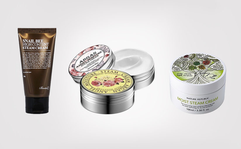 Top 3 best steam creams from Korea. Affordable and very popular!