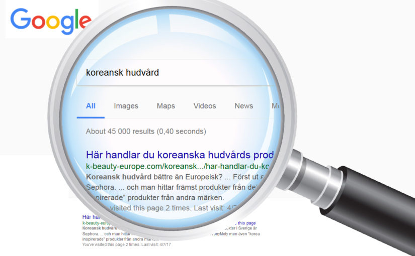 Number 1 on Google, the largest Swedish K-beauty blog and growing!
