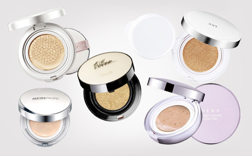 Top 5 best korean cushion foundations from Korea, Korean makeup K-beauty Europe