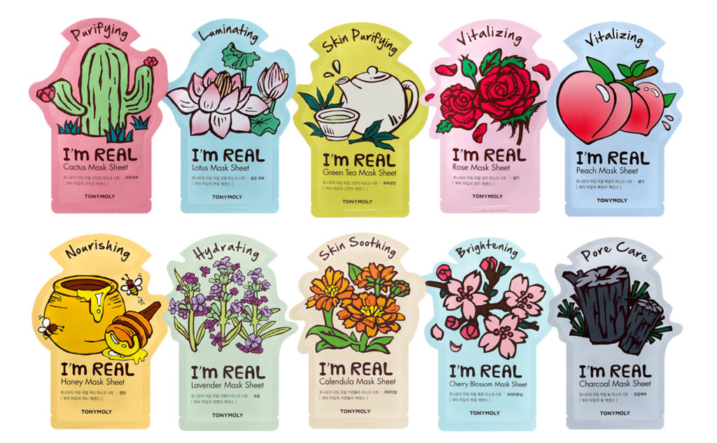 News from Tonymoly I'm Real sheet masks 2017 new in arrivals: Cactus Lotus Rose sheet mask Korean skin care K-beauty Europe