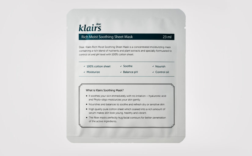 FIRST IMPRESSION: Klairs Rich Moist Soothing Sheet Mask