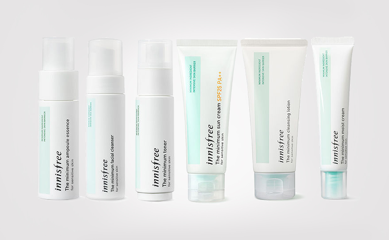 Innisfree The Minimum line for sensitive skin, troubled skin, irritated skin and redness K-beauty Europe Blog