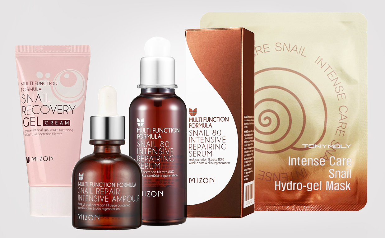 Korean skin care snail products Mizon Tonymoly for sensitive skin, troubled skin, irritated skin & redness K-beauty Europe Blog