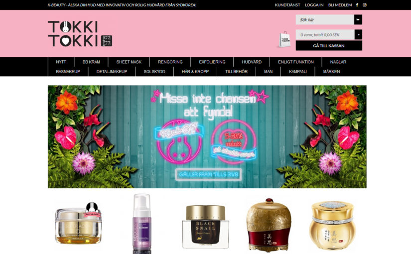 TokkiTokki new Swedish webshop selling Korean skin care.