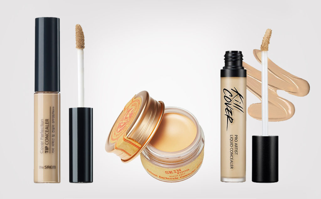 Top 3 best korean concealers from Korea. K-beauty Blogg Europe. Skinfood, Clio & The Saem