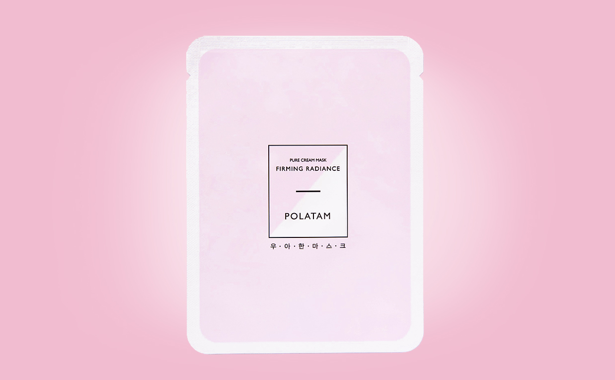 Buy Polatam Pure Cream Mask Firming Radiance sheet mask from Korea K-beauty webshop Korean skin care