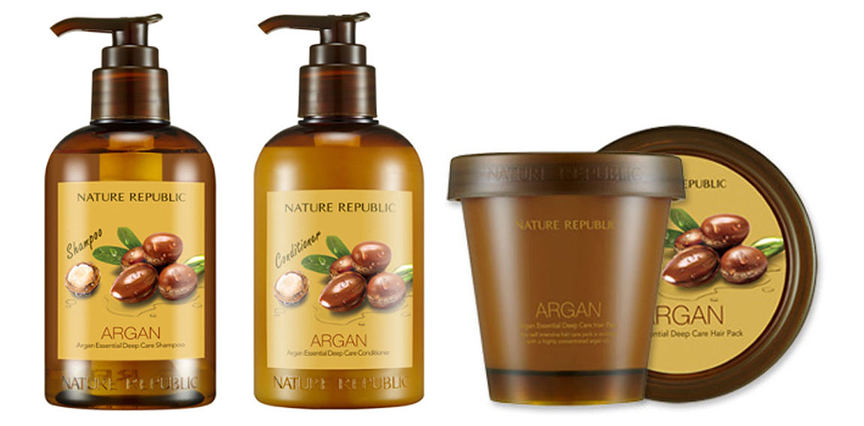 Nature Republic Argan Oil Hair care from Korea shampoo conditioner K-beauty Blog Europe