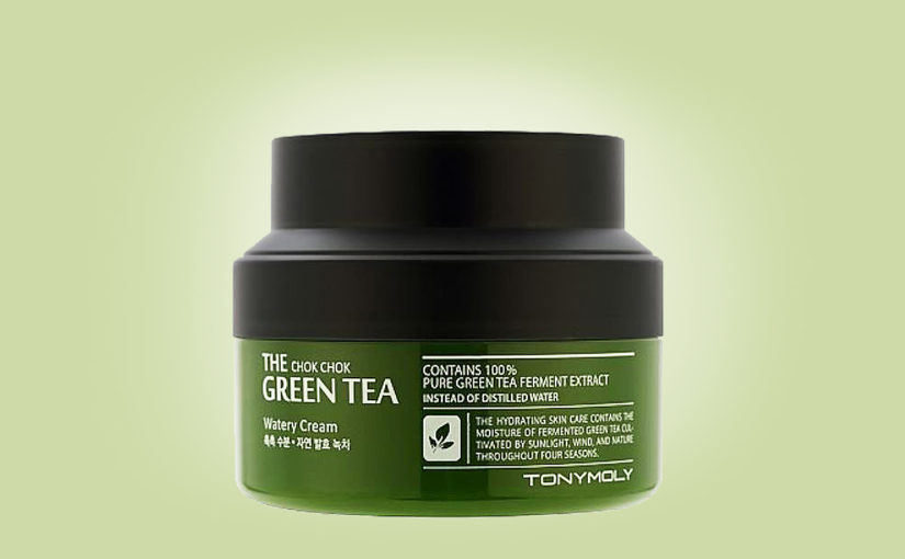 Buy Tonymoly The Chok Chok Green Tea Watery Cream from Korea K-beauty webshop Korean skin care