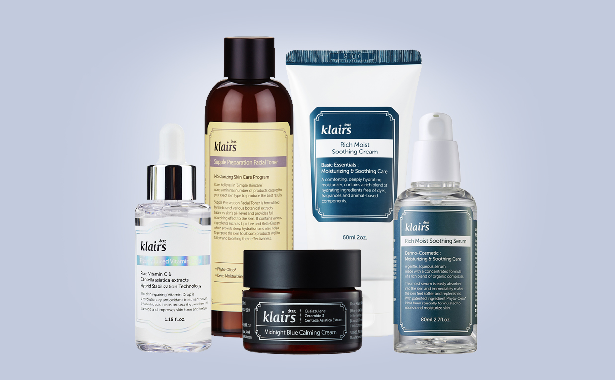 Buy Klairs skin care set sensitive skin acne prone skin troubled skin redness Korean skin care K-beauty webshop