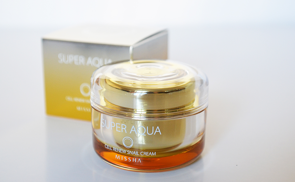 First impression review Missha Super Aqua Cell Renew Snail Cream Face Cream from Korea Korean Skin Care K-Beauty Blog Europe