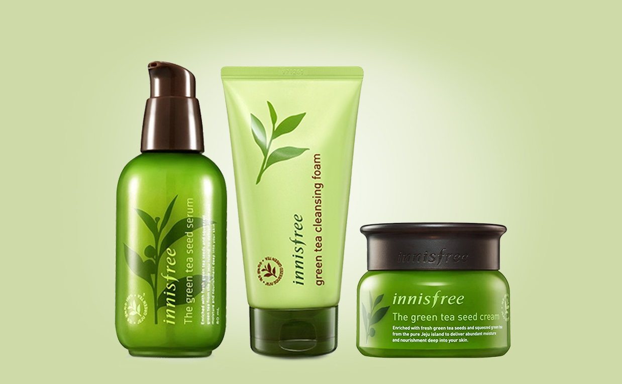 Buy Innisfree The Green Tea Seed Serum Special Care Set from Korea K-beauty webshop Korean skin care