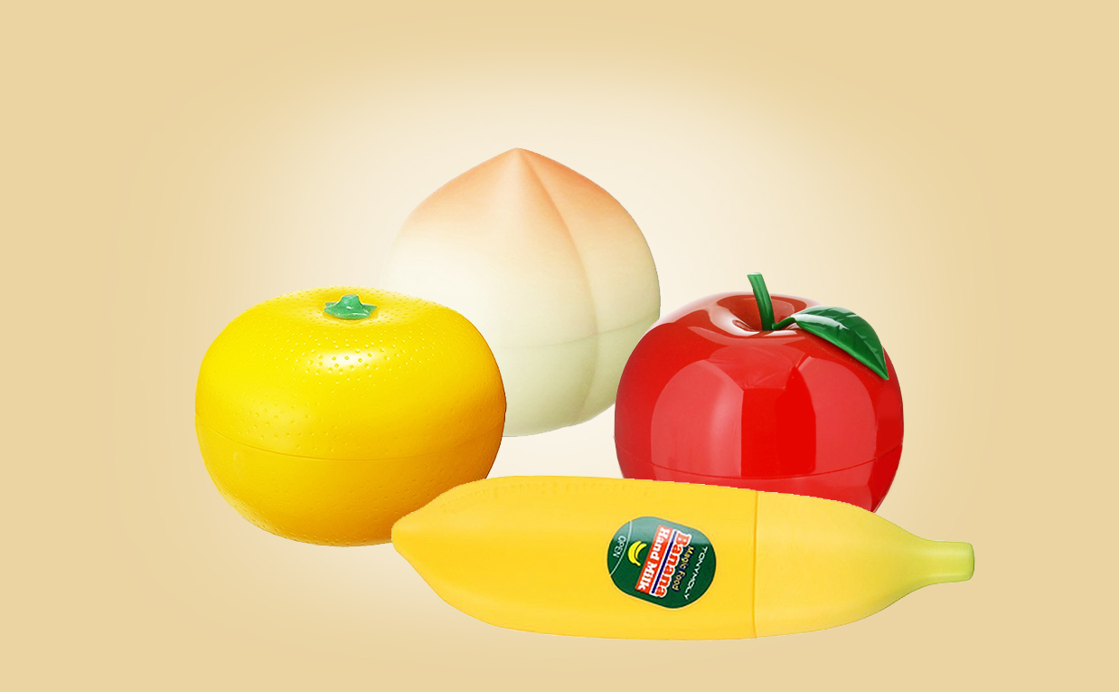 Buy Tonymoly Fruit Hand Cream Set peach banana tangerine apple mango from Korea Korean skin care webshop Europe
