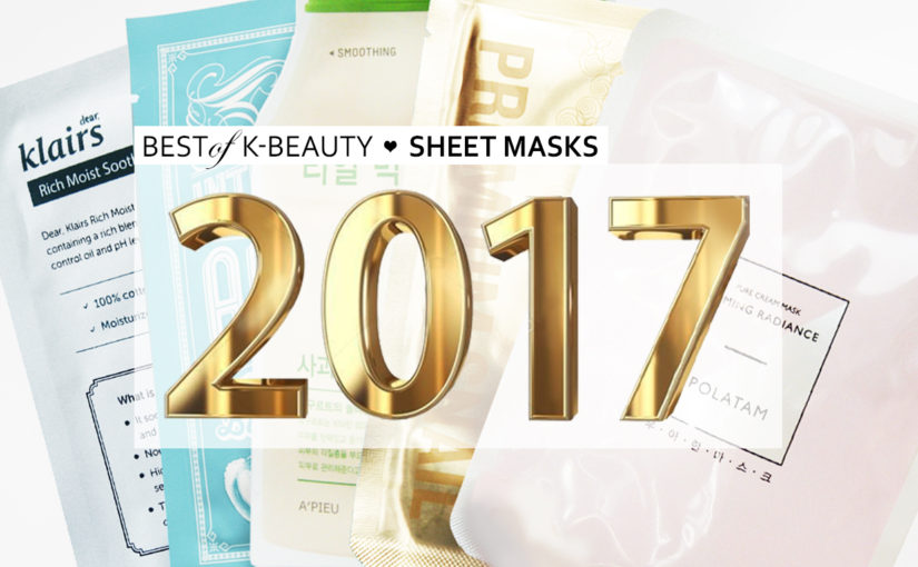 Best of Beauty Best Korean sheet mask 2017 Korean skin care K-beauty Blog Europe