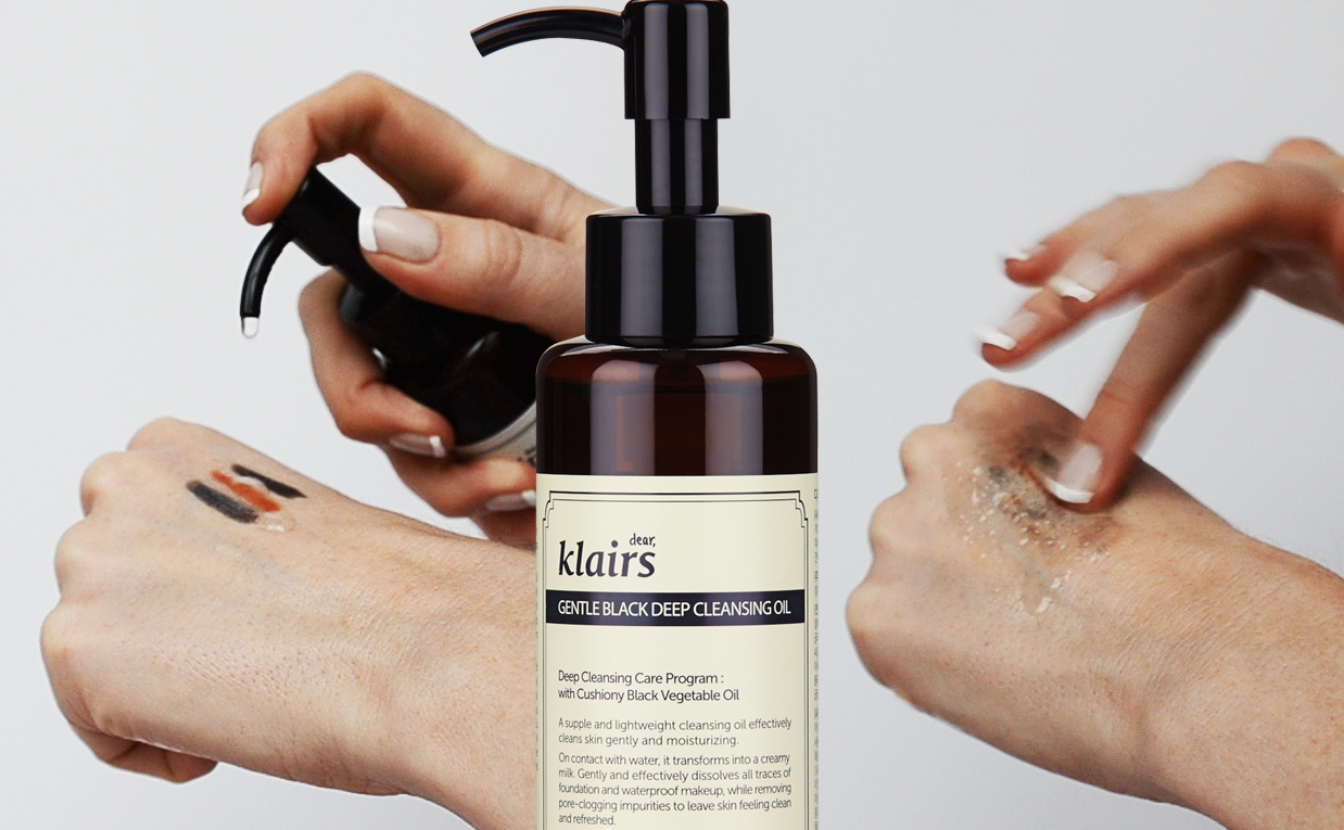 First impression review Klairs Gentle Black Deep Cleansing Oil from Korea Korean skin care K-beauty Blog Europe