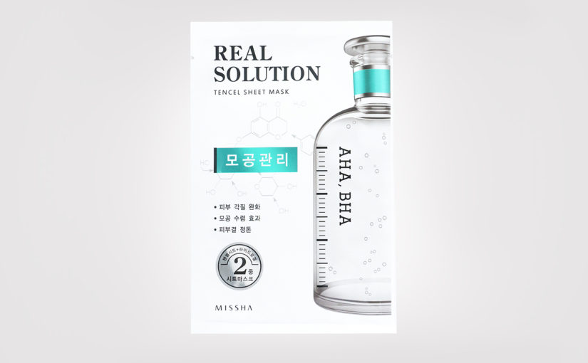FIRST IMPRESSION: Missha Real Solution Tencel Sheet Mask AHA / BHA