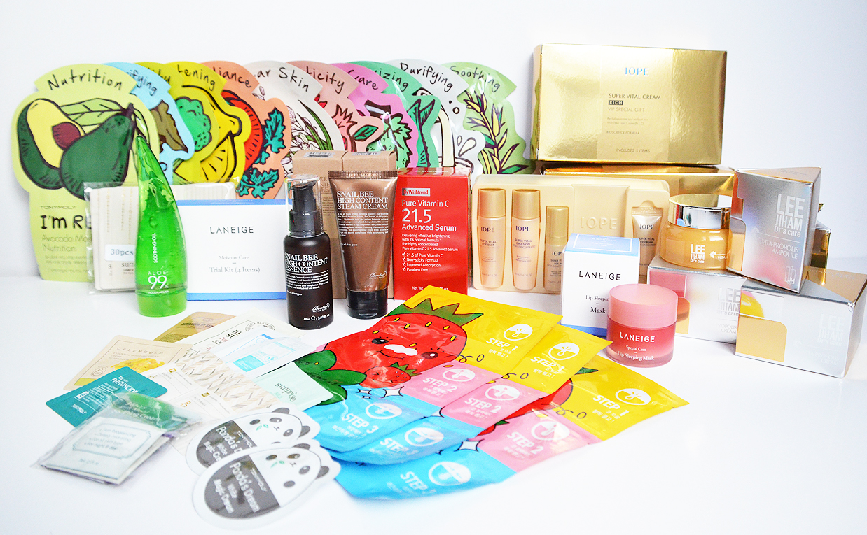 Mega super unboxing haul I open 11 packages from Korea! Korean skin care K-beauty Blog Europe