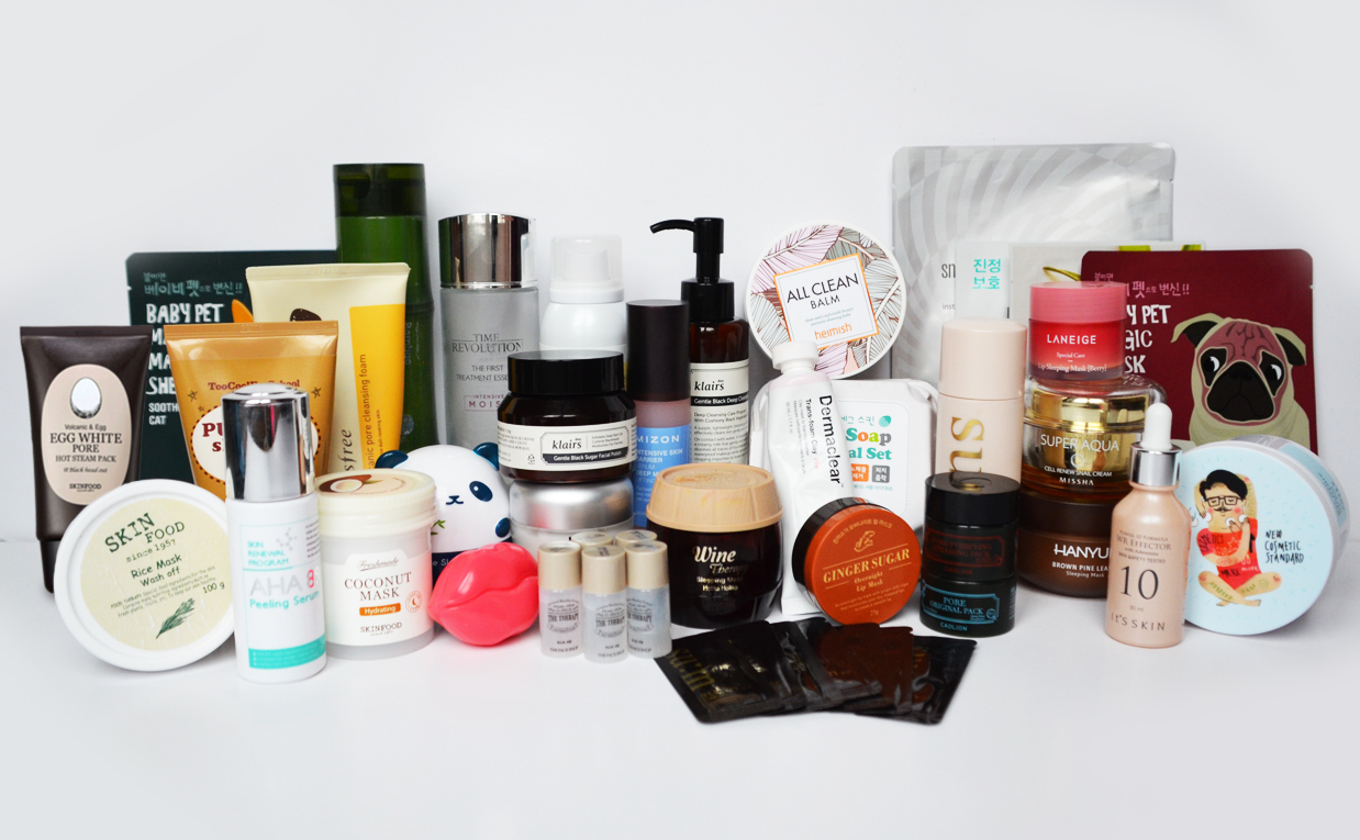 My Korean skin care routine 100% skin care products from Korea K-beauty Blog Europe