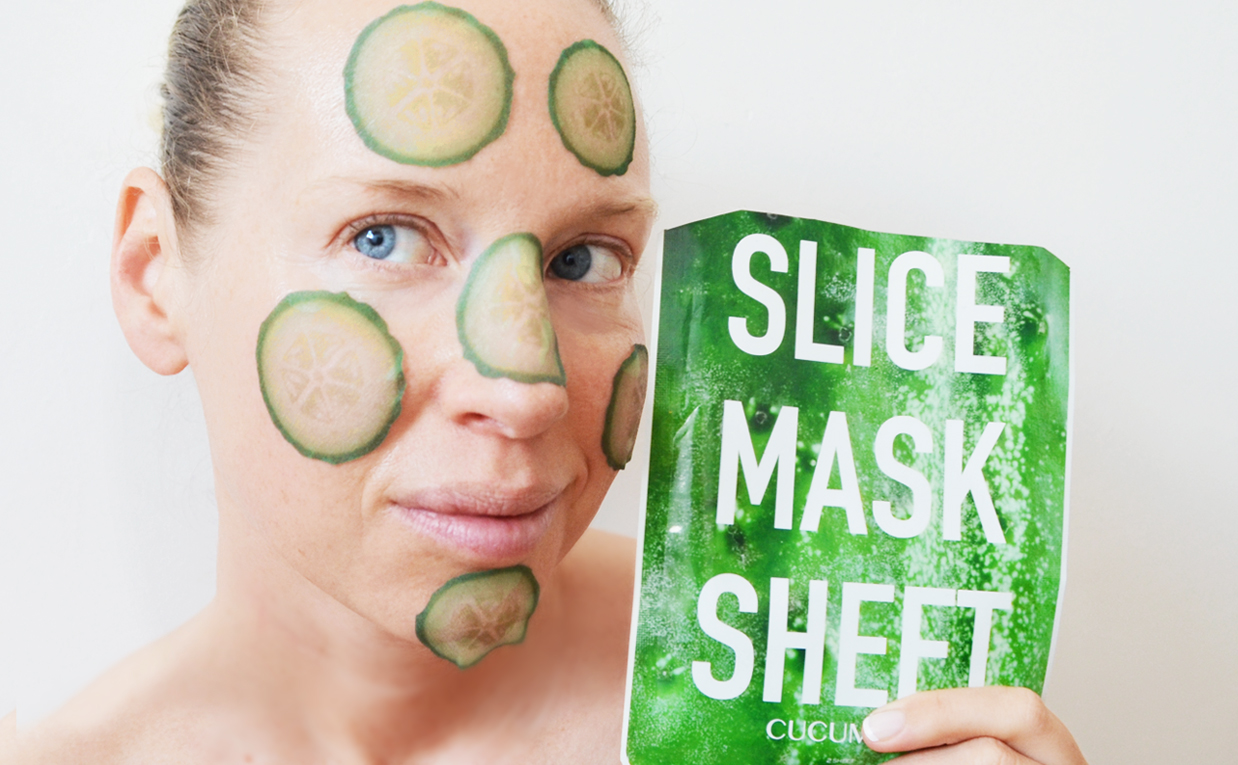 Review Kocostar Slice Mask Sheet mask cucumber from Korea Korean sheet mask K-beauty Blog Europe