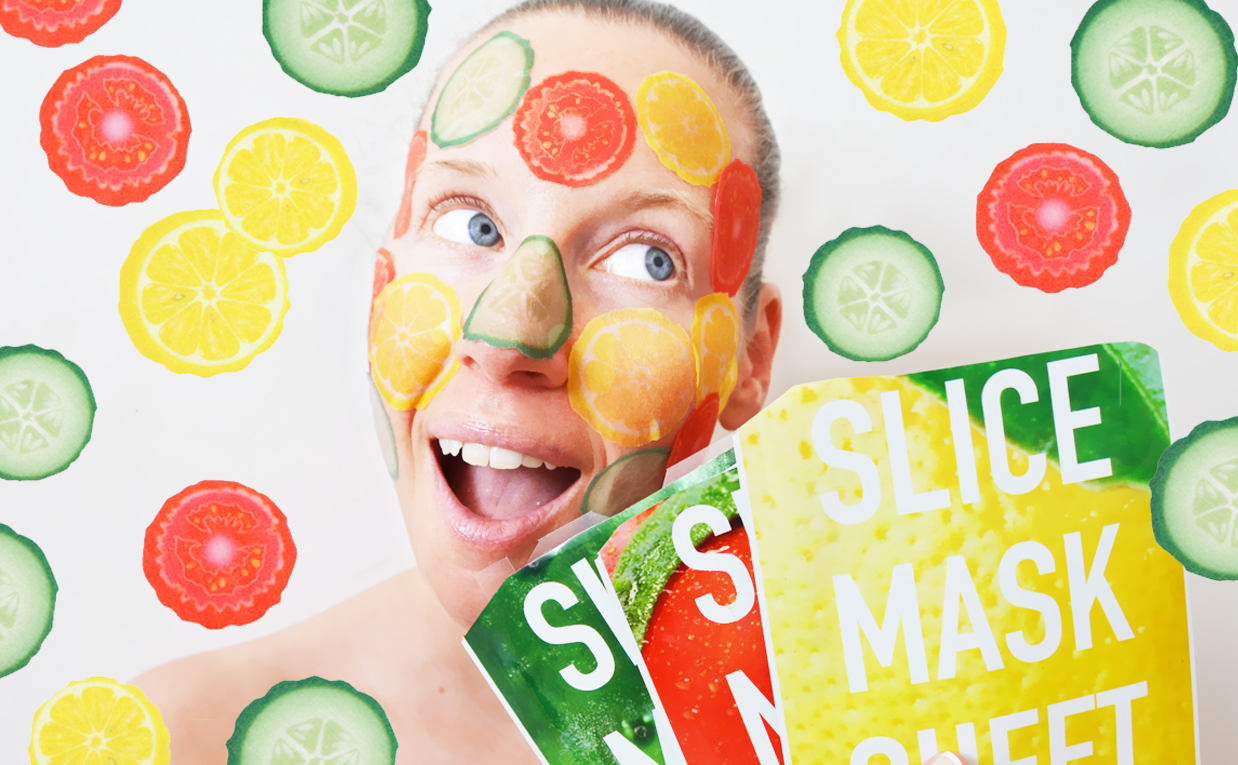 Review Kocostar Slice Mask Sheet mask lemon cucumber tomato from Korea Korean sheet mask K-beauty Blog Europe