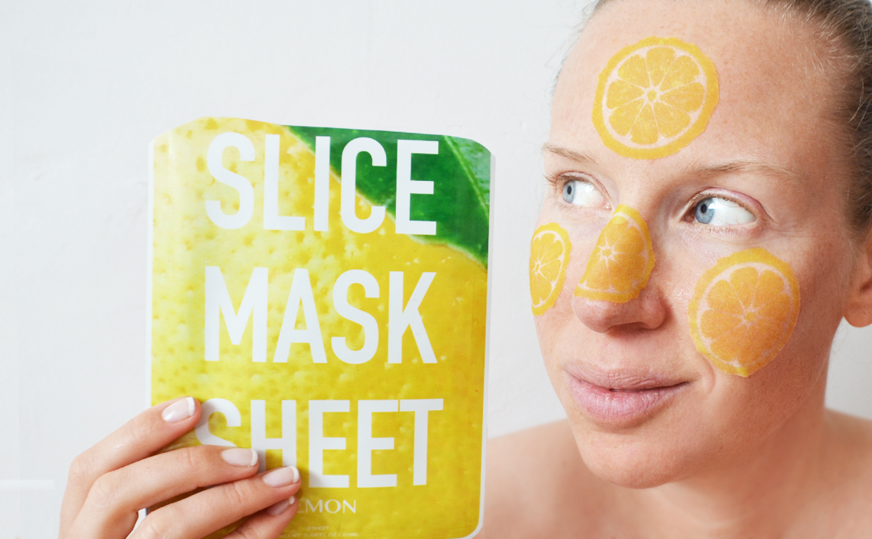 Review Kocostar Slice Mask Sheet mask lemon from Korea Korean sheet mask K-beauty Blog Europe