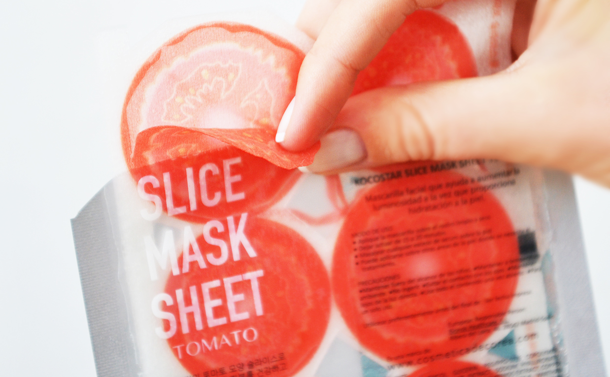 First impression review Kocostar Slice Mask Sheet mask tomato from Korea Korean sheet mask K-beauty Blog Europe