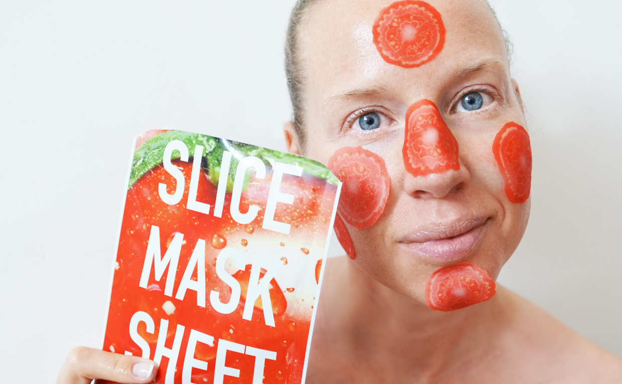 Review Kocostar Slice Mask Sheet mask tomato from Korea Korean sheet mask K-beauty Blog Europe