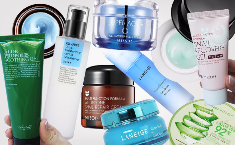Top best light face creams from Korea. Oily, combination & sensitive skin