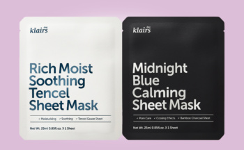 Klairs Midnight Blue Calming Sheet Mask & Klairs Rich Moist Soothing Tencel Sheet Mask from Korea K-beauty webshop Korean skin care
