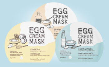 Buy Too Cool For School Egg Cream Mask sheet mask from Korea K-beauty web shop Korean skin care