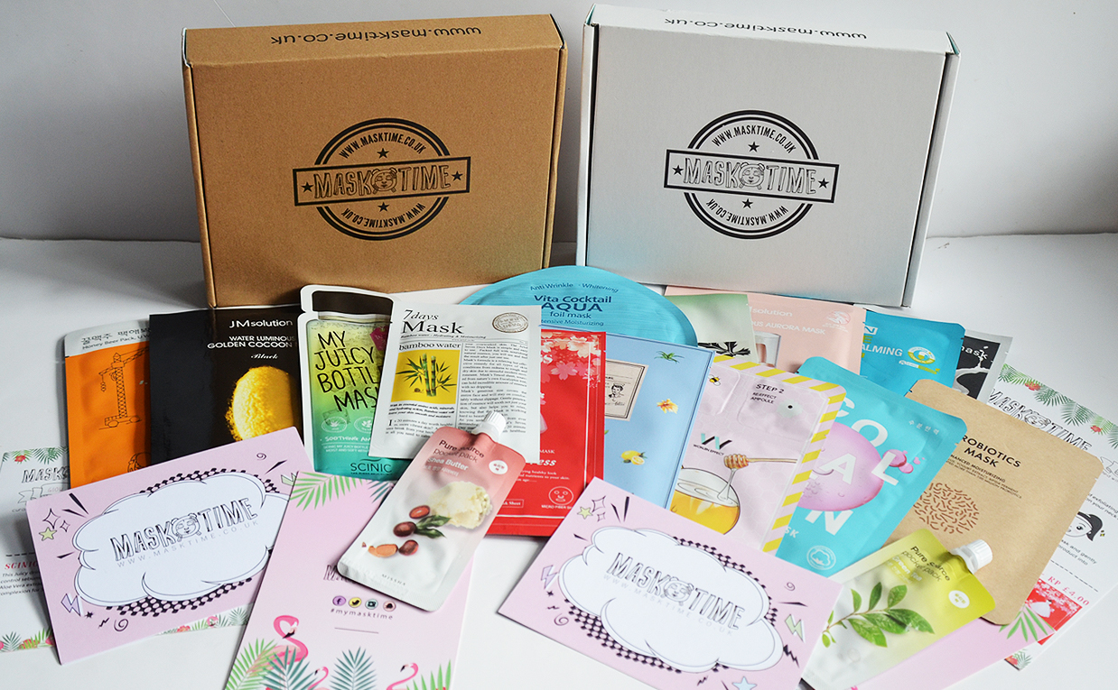 Mask Time sheet mask subscription box Korean skin care K-beauty Blog Europe
