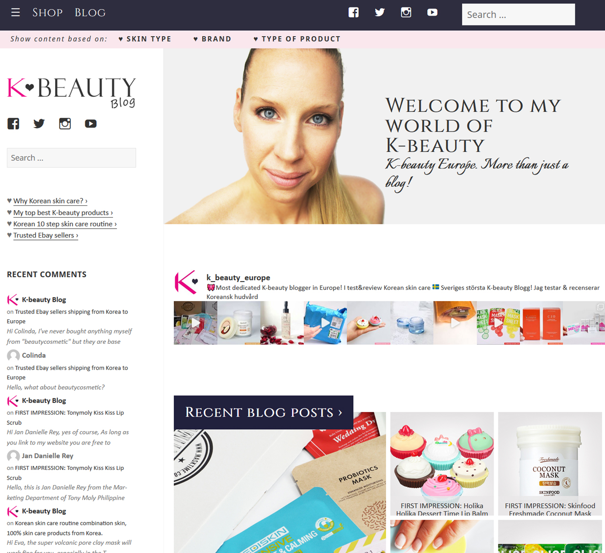New design K-beauty Blog Europe All about Korean skin care and makeup