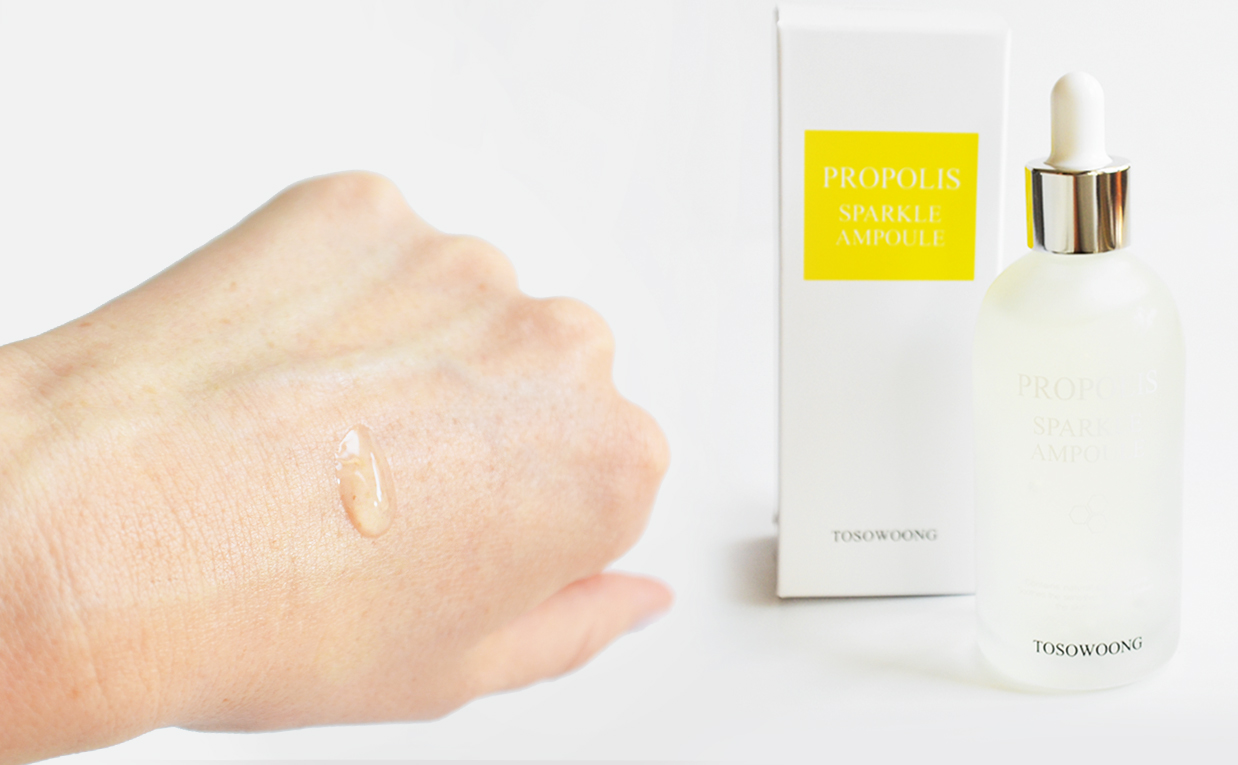 First impression review Tosowoong Propolis Sparkle Ampoule propolis serum from Korea Korean skin care K-beauty Blog Europe