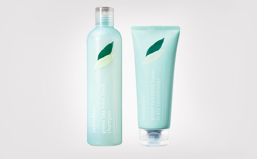 FIRST IMPRESSION: Innisfree Green Tea Mint Fresh Scalp Shampoo & Conditioner